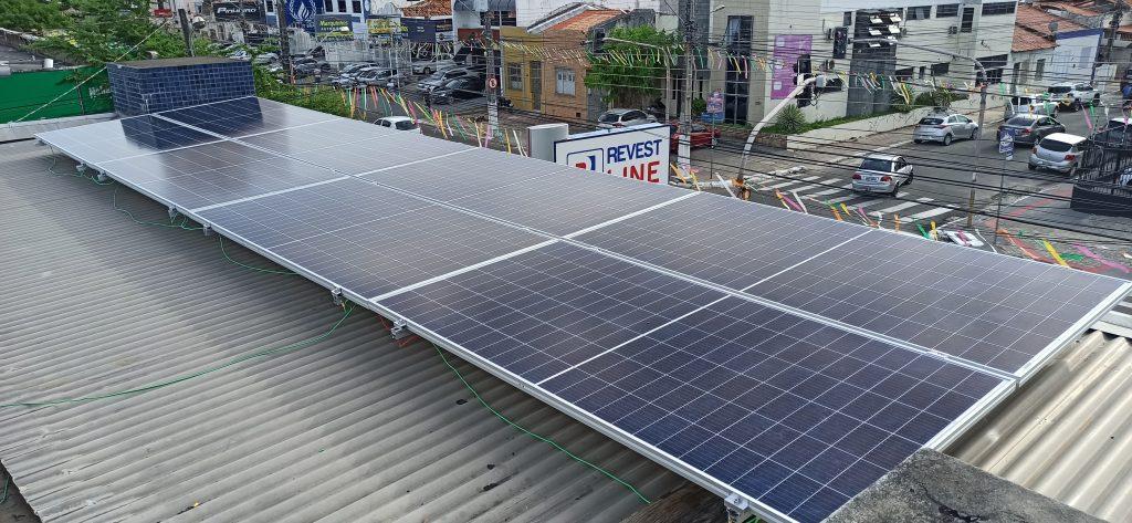 Instalação de 10,08kWp na Empresa Revest Line  Aracaju – Sergipe